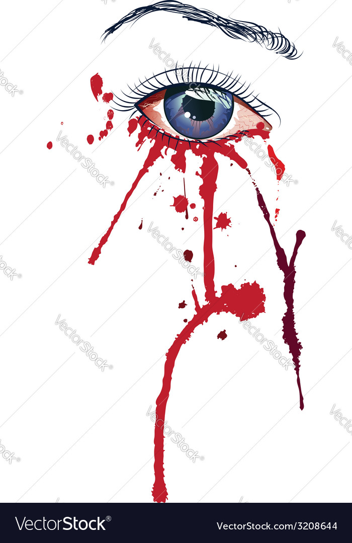 Eye with blood vector | Price: 1 Credit (USD $1)