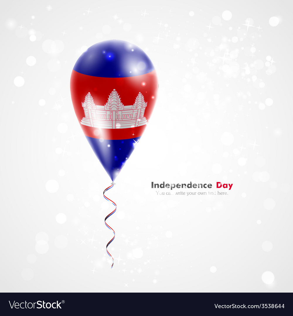Flag of cambodia on balloon vector | Price: 1 Credit (USD $1)