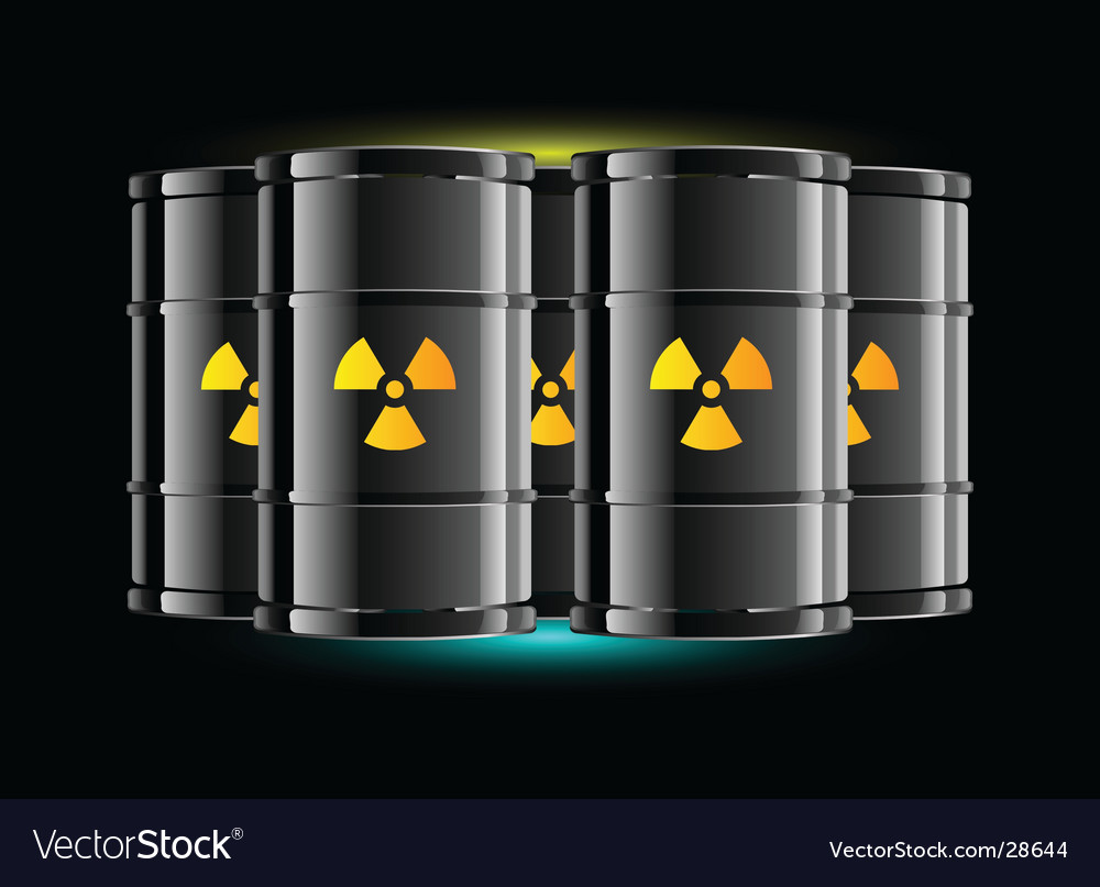 Radiation sign barrels vector | Price: 1 Credit (USD $1)