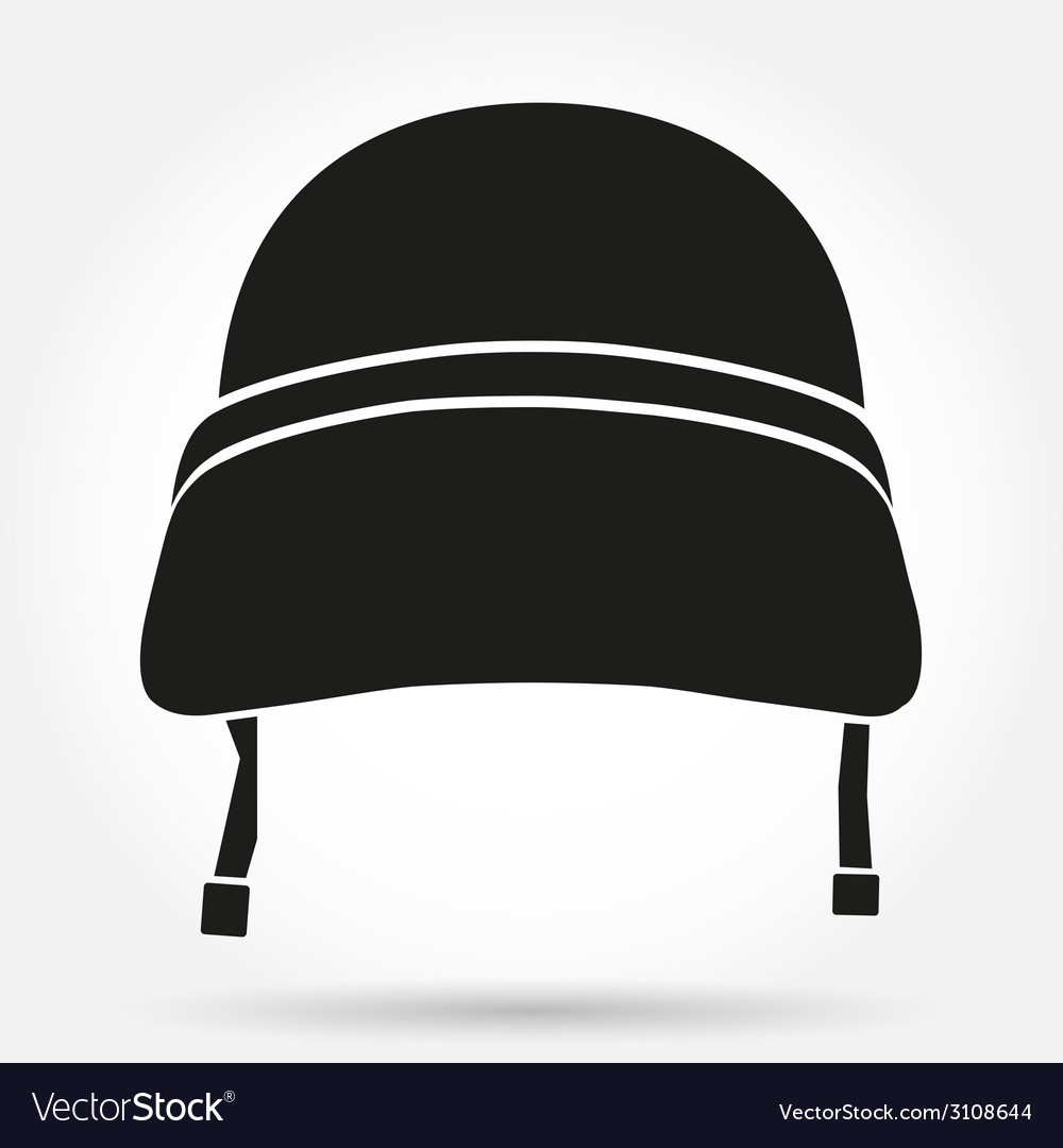 Silhouette symbol of military helmet vector | Price: 1 Credit (USD $1)