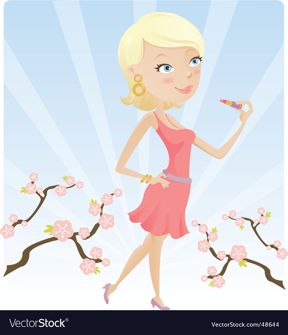 Spring lip gloss vector | Price: 3 Credit (USD $3)