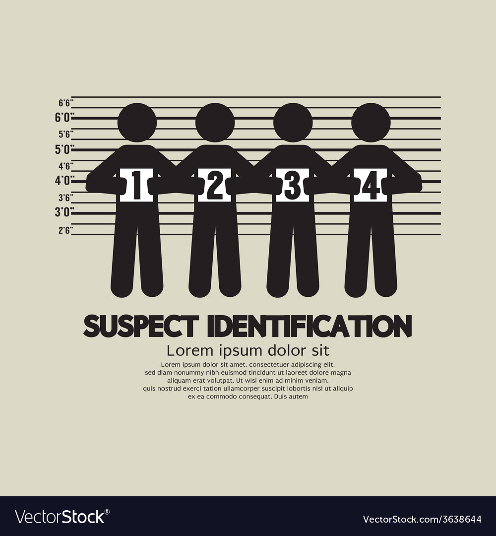 Suspect identification graphic symbol vector | Price: 1 Credit (USD $1)