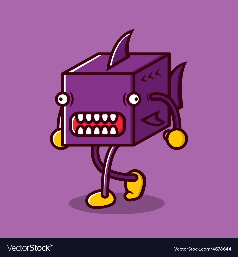 Walking cube sharky vector   Price: 1 Credit (USD $1)