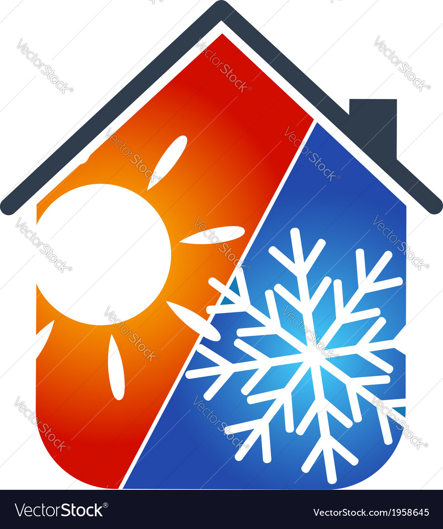 Air conditioning house vector | Price: 1 Credit (USD $1)