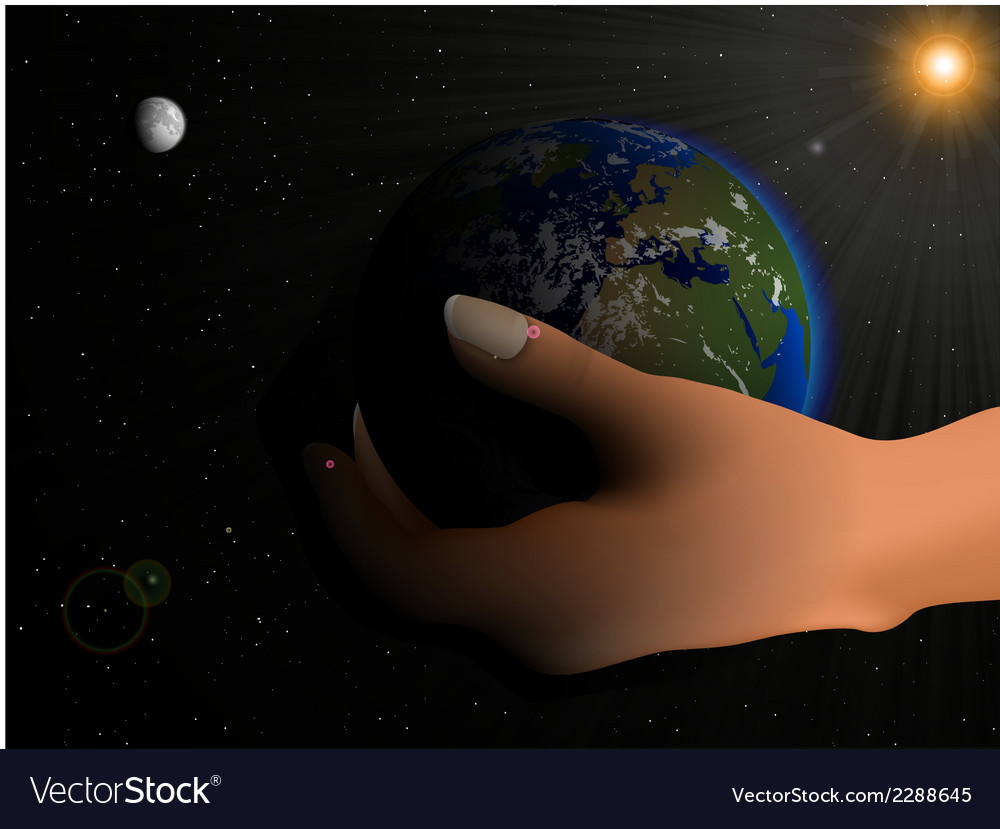 Blue planet earth vector | Price: 1 Credit (USD $1)