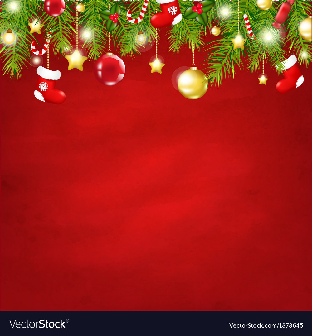 Christmas red happy new year composition vector   Price: 1 Credit (USD $1)