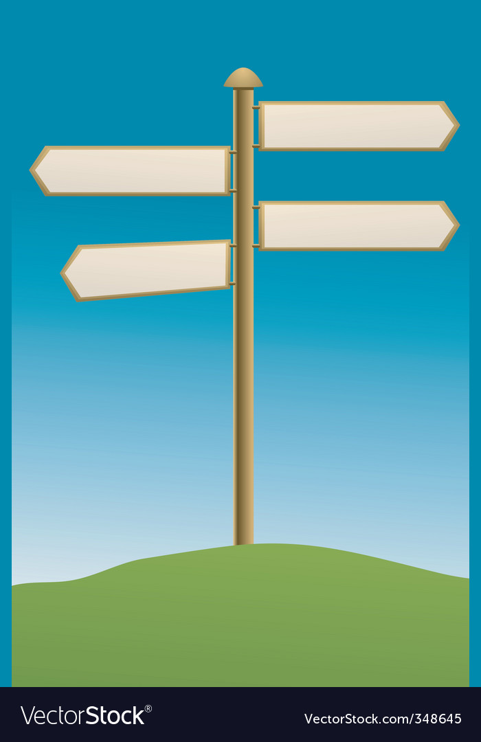 Direction board rural vector | Price: 1 Credit (USD $1)