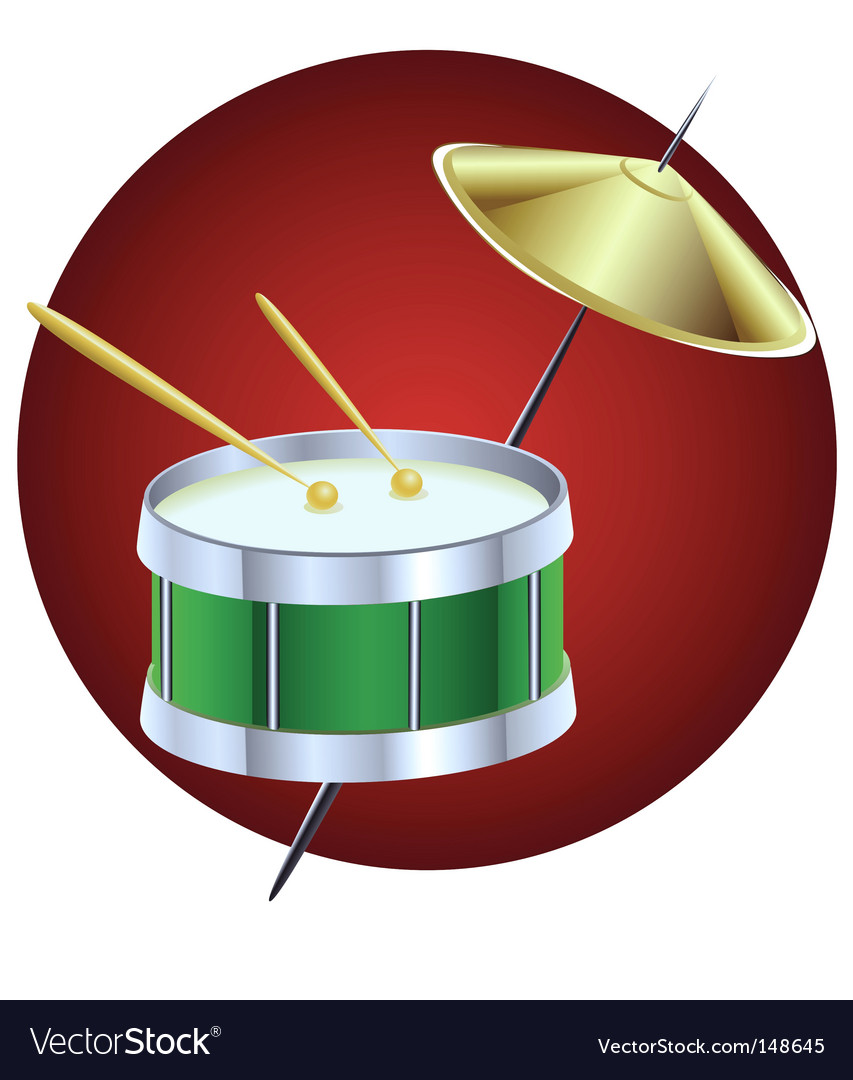 Drum music instrument vector | Price: 1 Credit (USD $1)