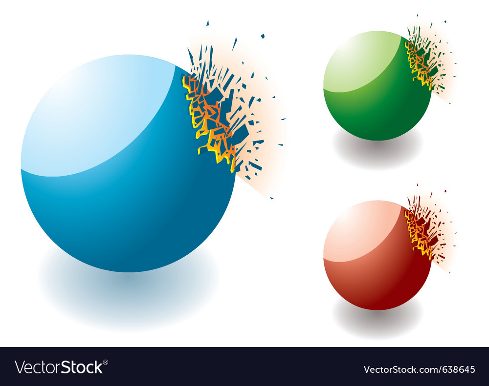 Exploding stones vector | Price: 1 Credit (USD $1)