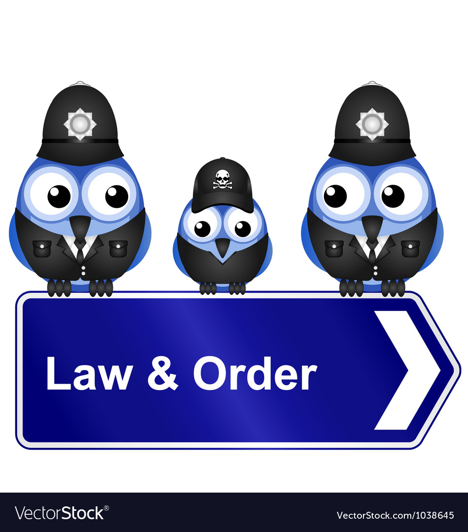 Law order sign vector | Price: 1 Credit (USD $1)