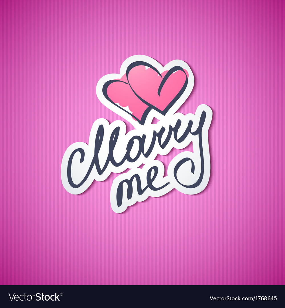 Marry me vector | Price: 1 Credit (USD $1)