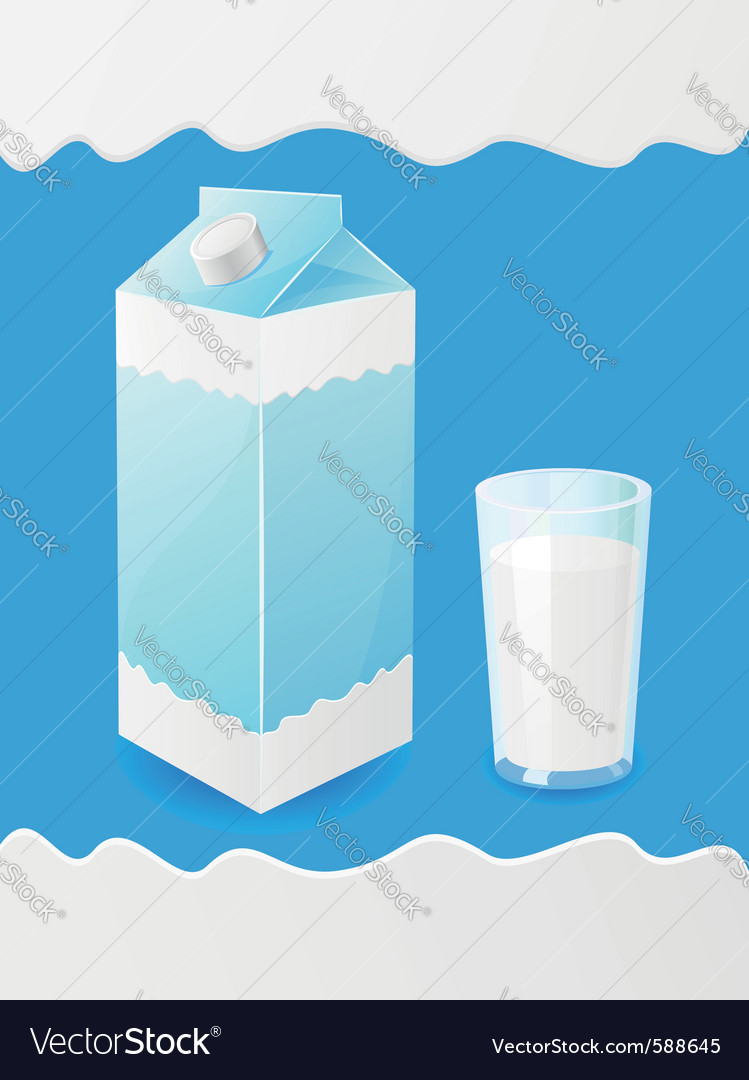 Milk packaging vector | Price: 3 Credit (USD $3)