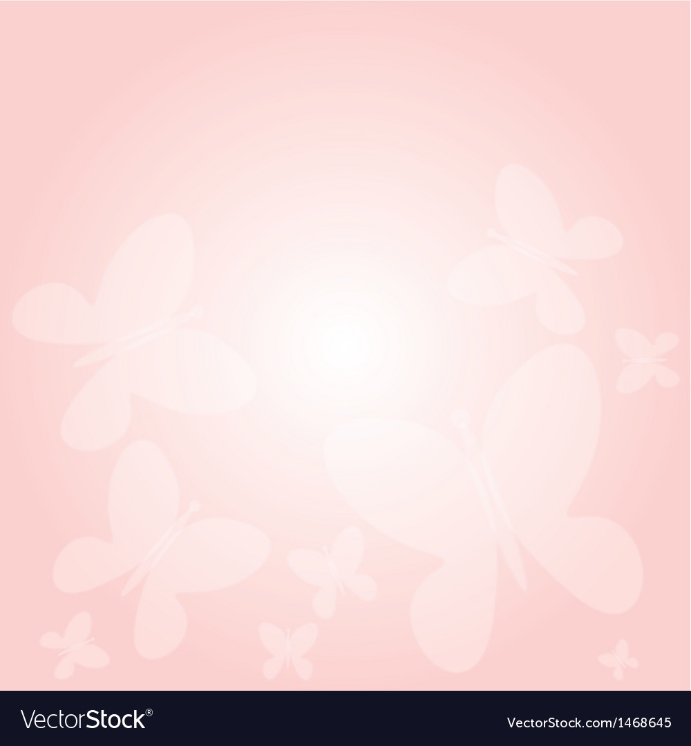 Pink background with butterflies vector | Price: 1 Credit (USD $1)