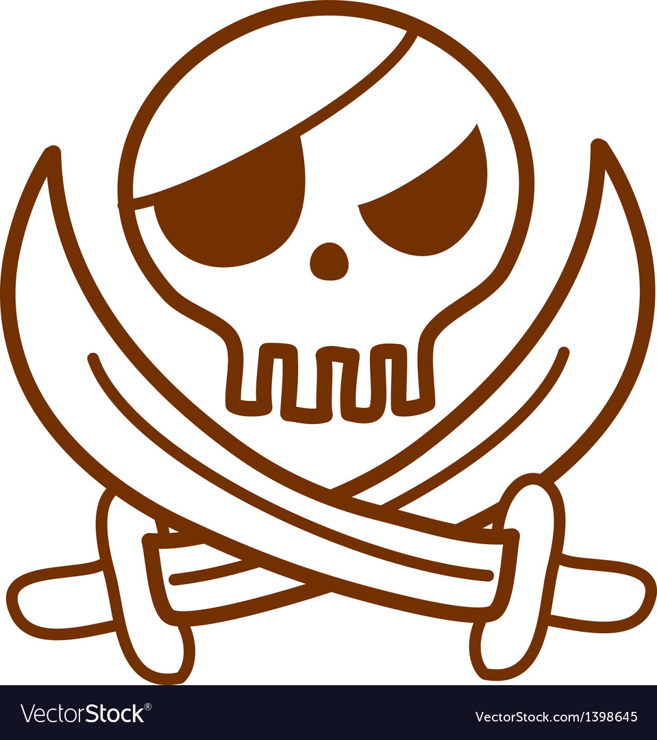 Pirate sword and skull vector | Price: 1 Credit (USD $1)