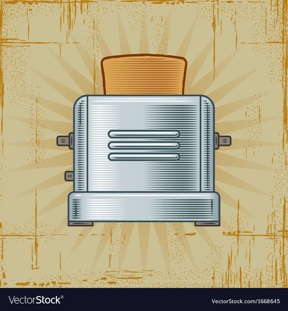 Retro toaster vector | Price: 1 Credit (USD $1)