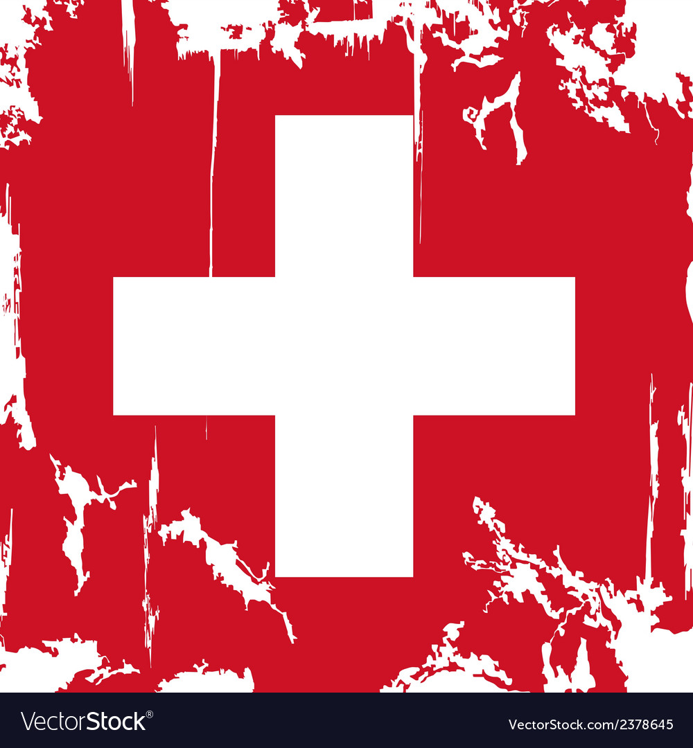 Swiss grunge flag vector | Price: 1 Credit (USD $1)