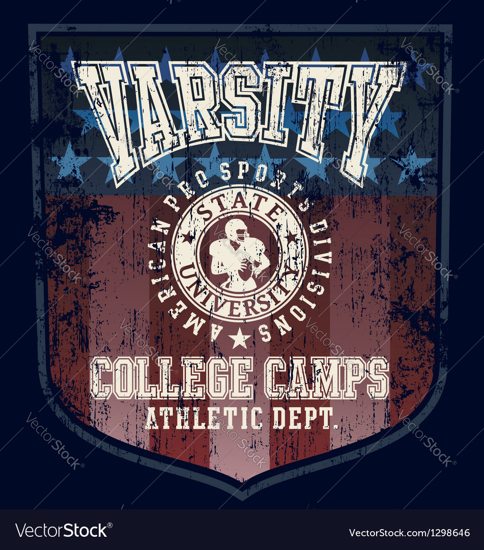 Football college camp vector | Price: 3 Credit (USD $3)