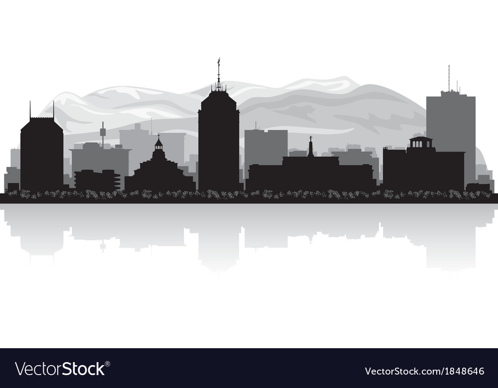 Fresno california city skyline silhouette vector | Price: 1 Credit (USD $1)