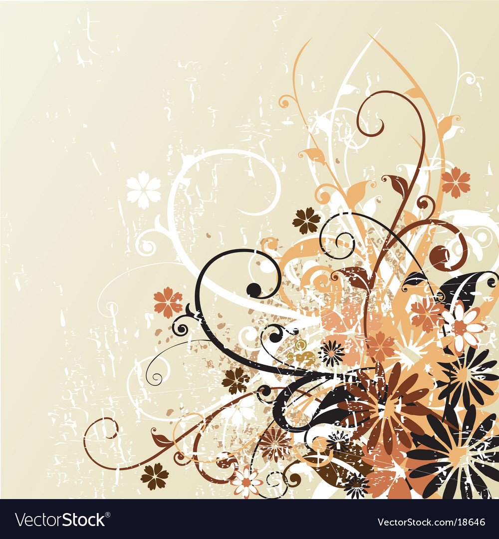 Grunge floral design background vector | Price: 1 Credit (USD $1)