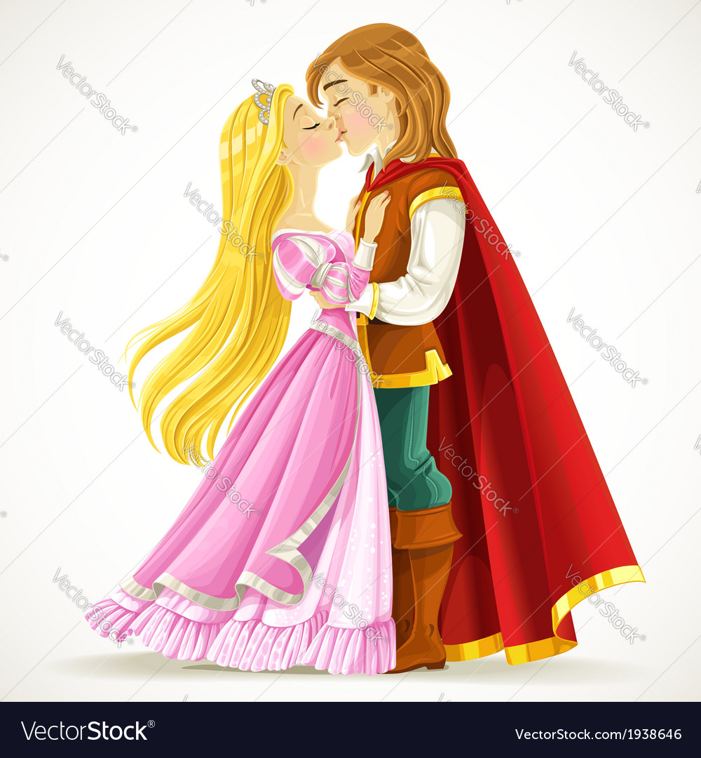 Handsome prince kisses the princess vector | Price: 5 Credit (USD $5)