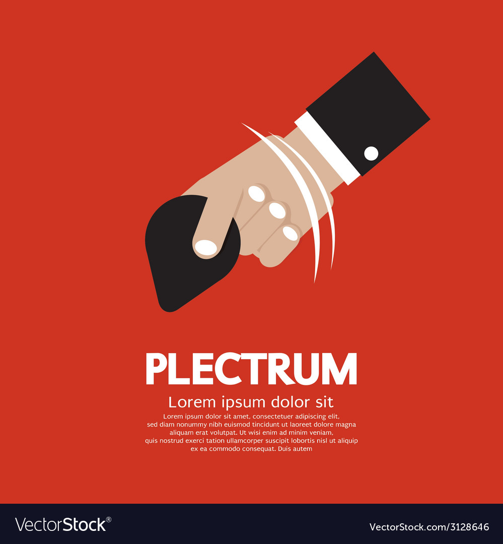 Plectrum in hand vector | Price: 1 Credit (USD $1)