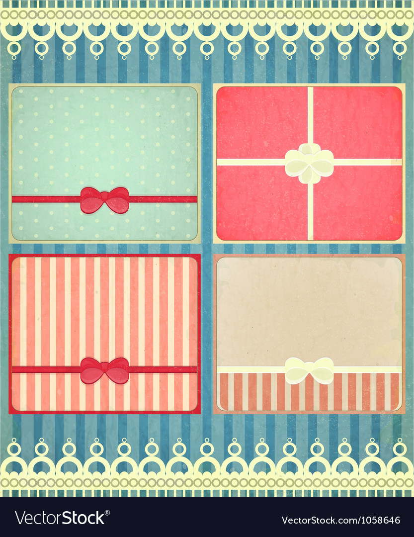 Set of four retro holiday backgrounds vector | Price: 3 Credit (USD $3)