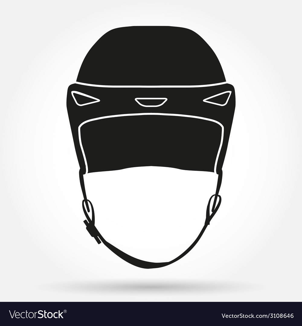 Silhouette symbol of classic goalkeeper ice hockey vector | Price: 1 Credit (USD $1)