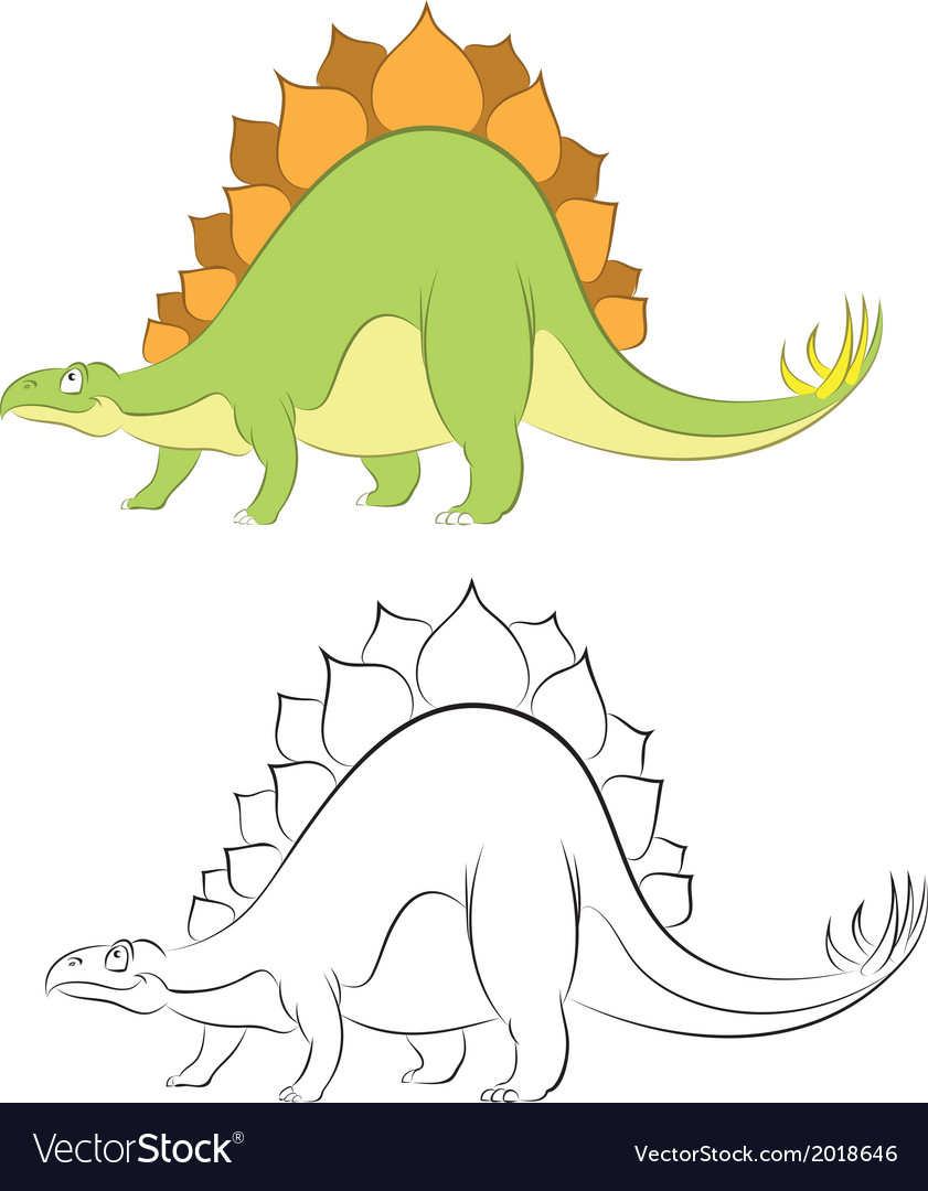 Stegosaur vector | Price: 1 Credit (USD $1)