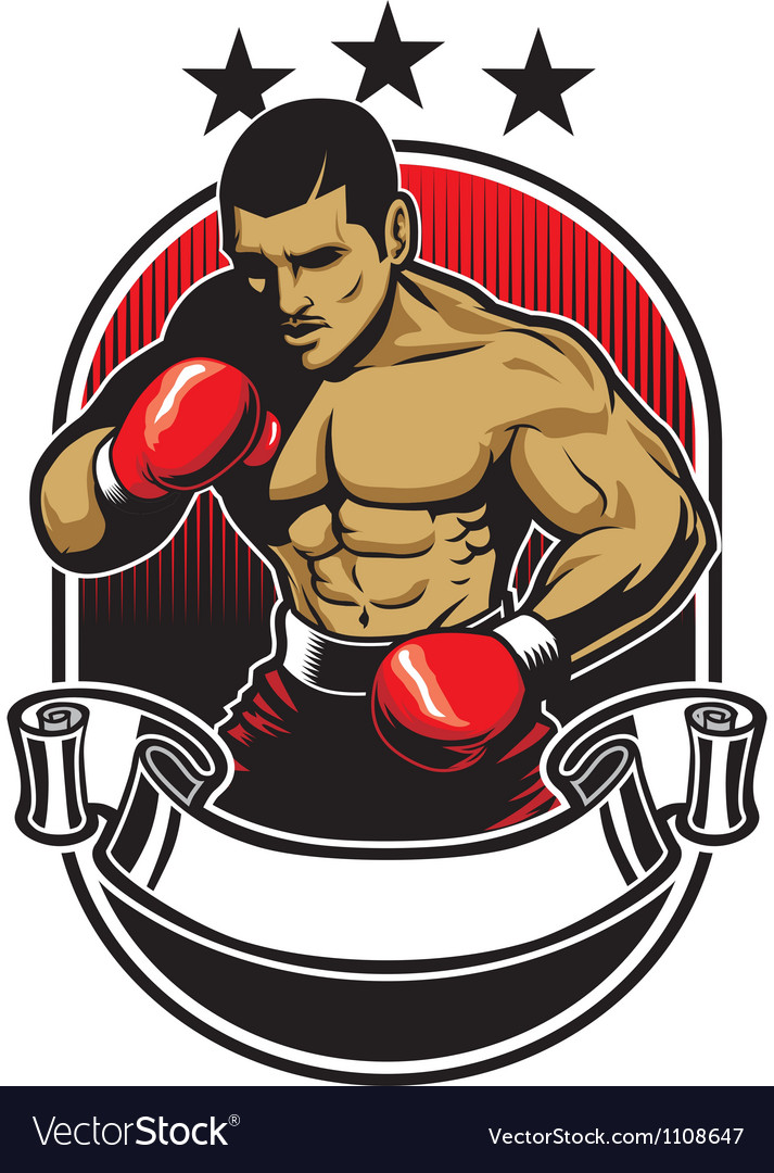 Boxing athlete vector | Price: 1 Credit (USD $1)