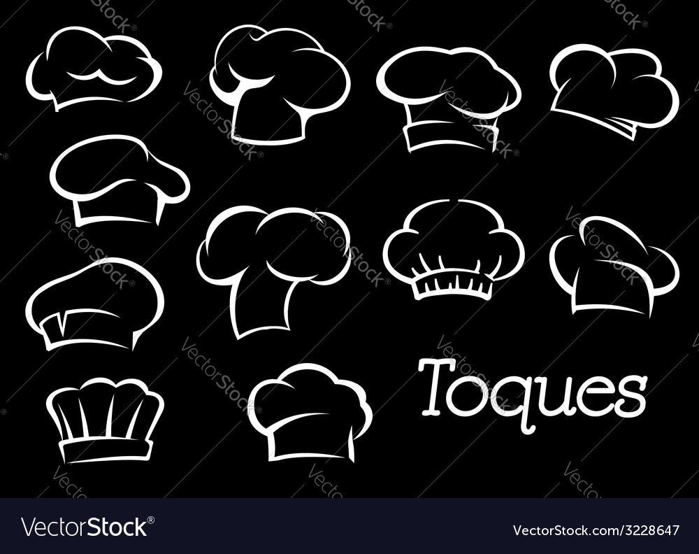 Chef toques and hats set vector | Price: 1 Credit (USD $1)