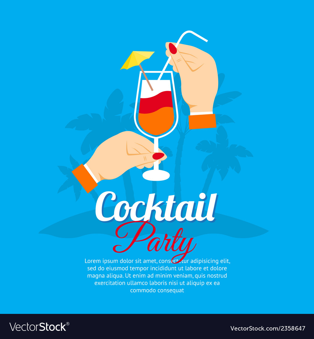 Cocktail party poster vector   Price: 1 Credit (USD $1)