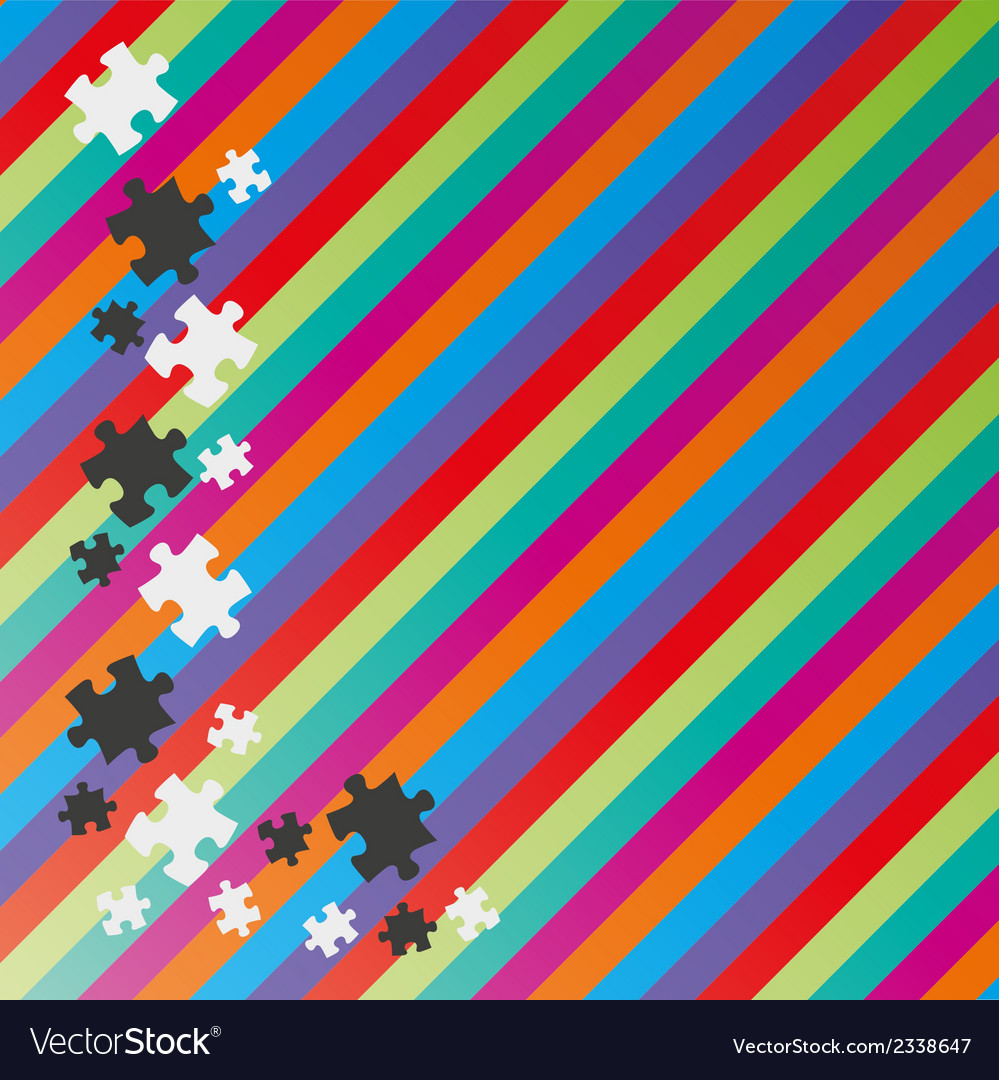 Color lines and puzzle vector | Price: 1 Credit (USD $1)