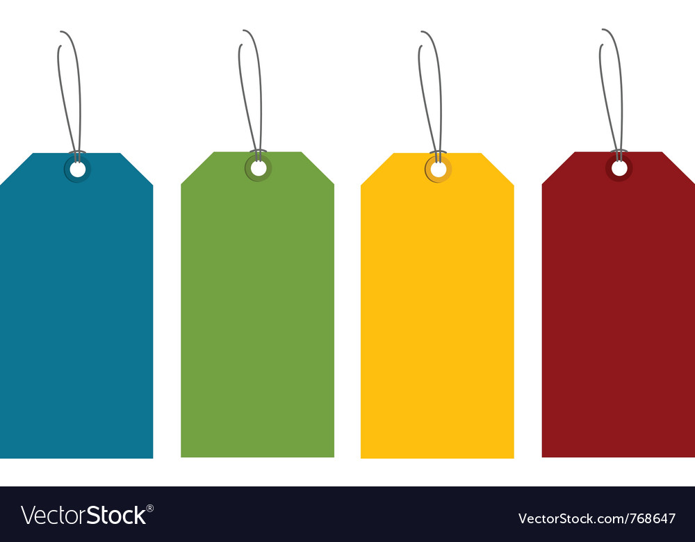 Colorful tags vector | Price: 1 Credit (USD $1)
