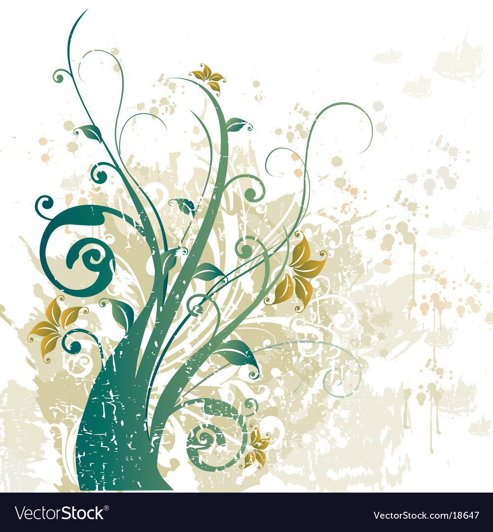 Grunge floral design background vector | Price: 1 Credit (USD $1)