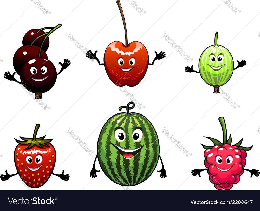 Happy friendly fruit vector | Price: 1 Credit (USD $1)