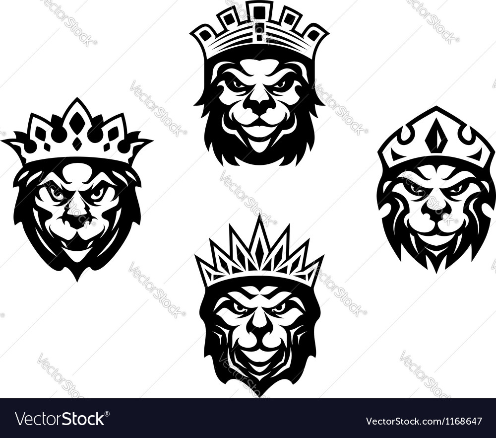 Heraldry lions with crowns vector | Price: 1 Credit (USD $1)