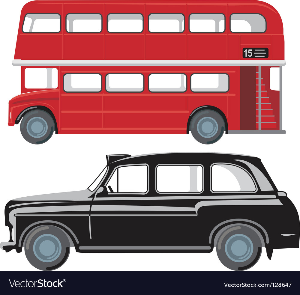 London public transport vector
