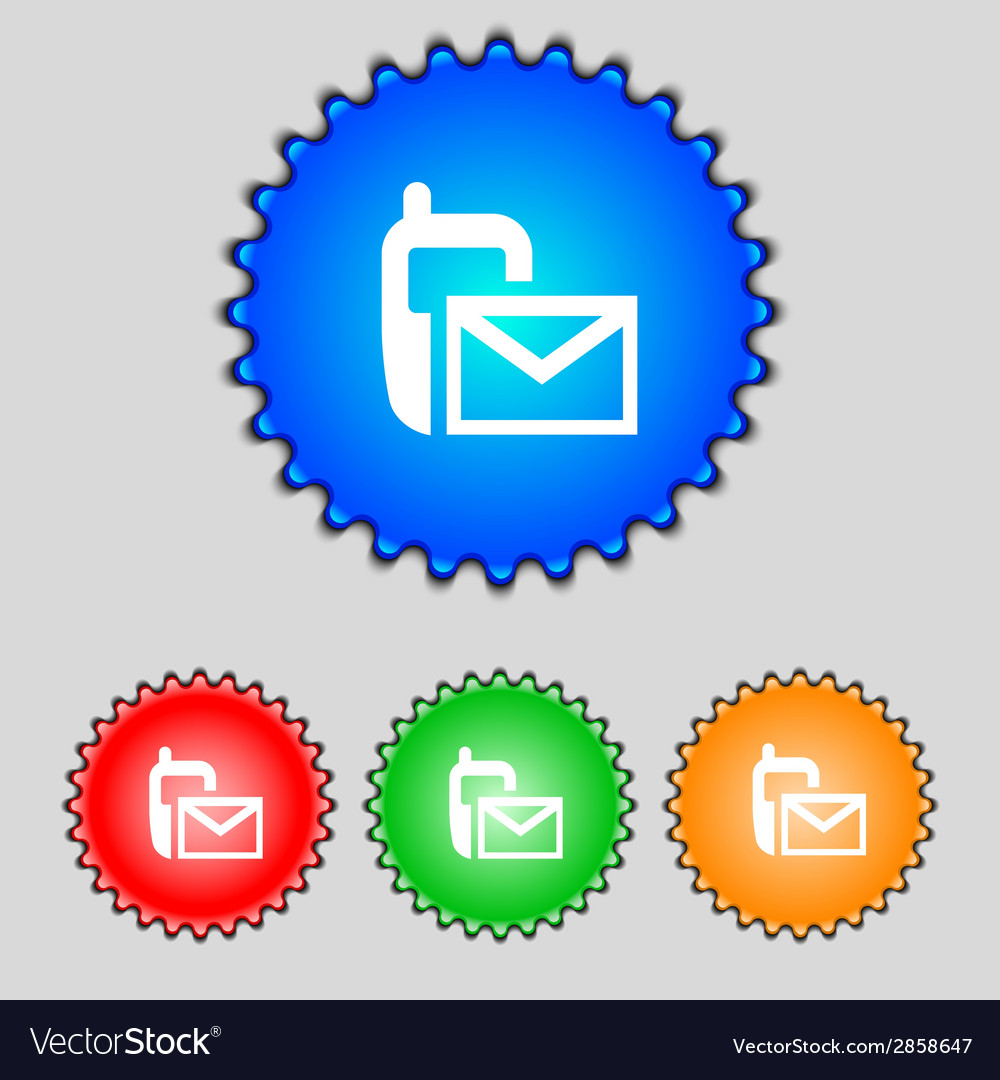 Mail icon envelope symbol message sms vector | Price: 1 Credit (USD $1)