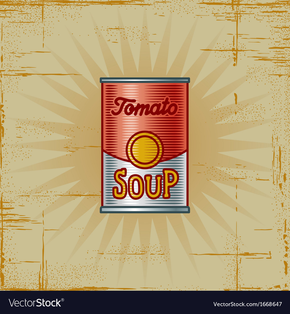 Retro tomato soup can vector | Price: 1 Credit (USD $1)