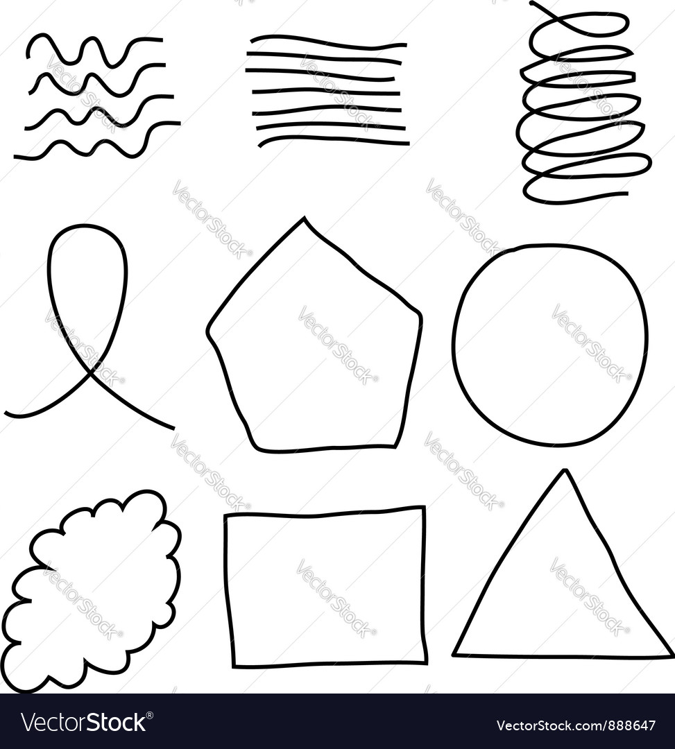 Scribble shapes vector | Price: 1 Credit (USD $1)