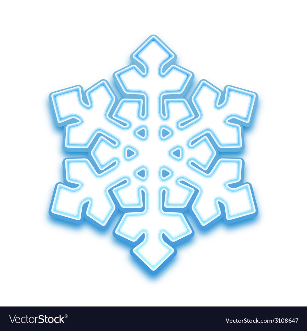 Three-demention snowflake vector | Price: 1 Credit (USD $1)