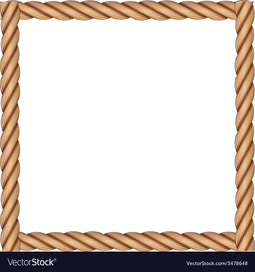 A frame made of rope vector | Price: 1 Credit (USD $1)
