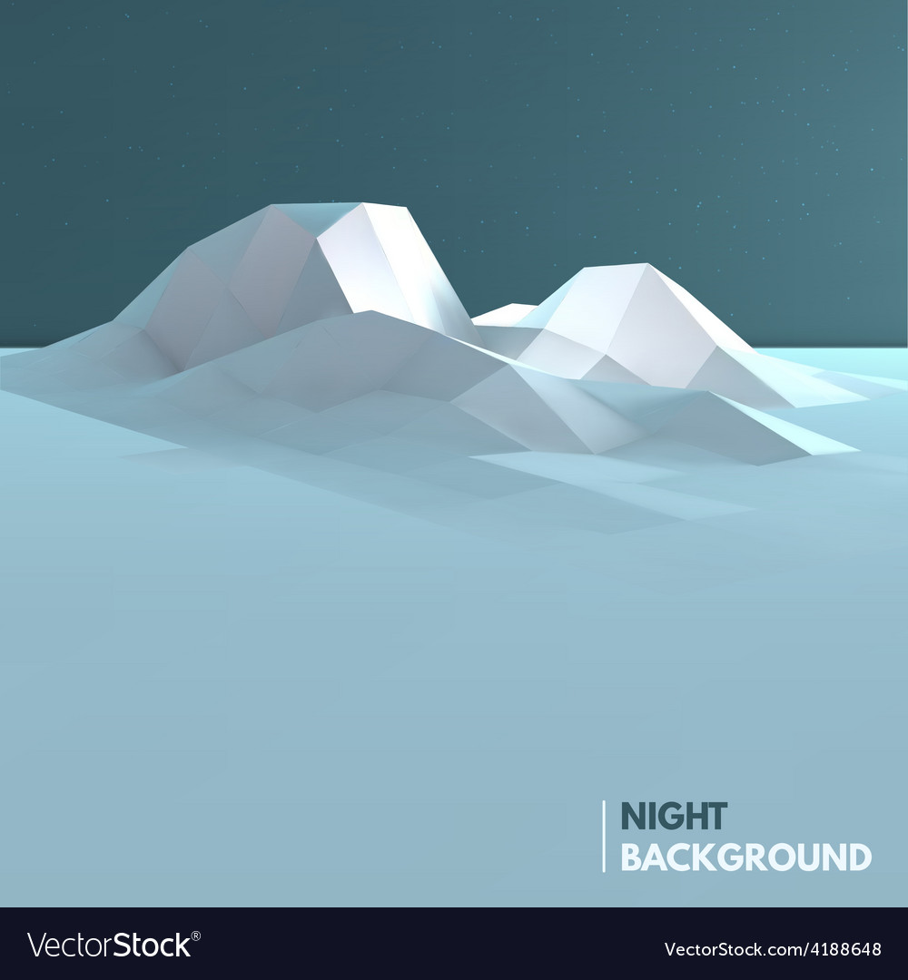 Abstract low poly ice mountain background vector | Price: 1 Credit (USD $1)
