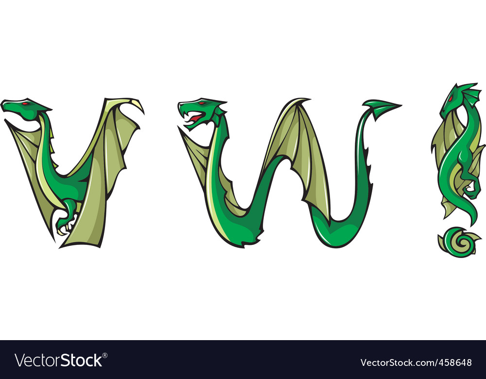Dragons alphabet vw and vector | Price: 1 Credit (USD $1)