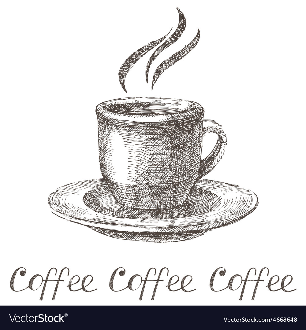 Hand drawn coffee cup vector | Price: 1 Credit (USD $1)