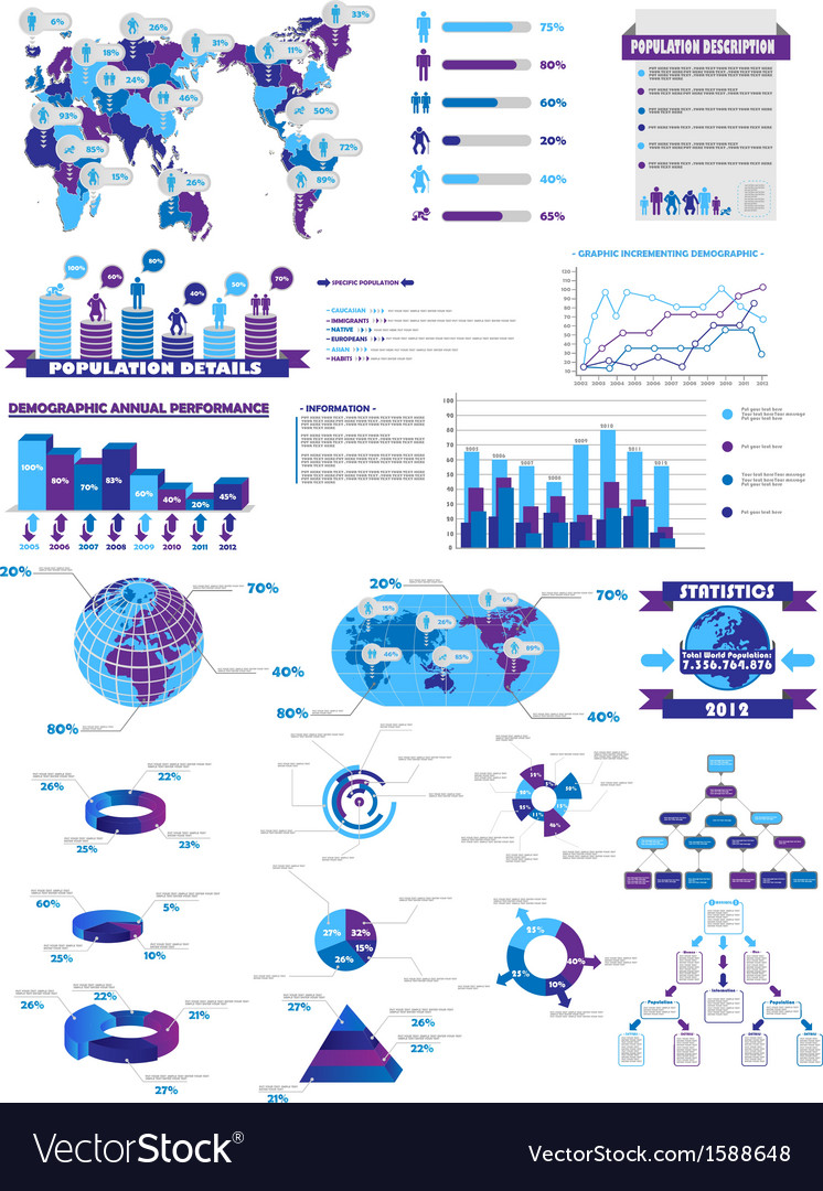 Infographic web collection purple vector | Price: 1 Credit (USD $1)