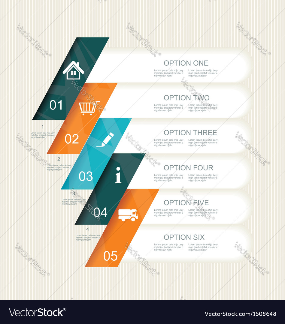 Modern step options banner vector | Price: 1 Credit (USD $1)