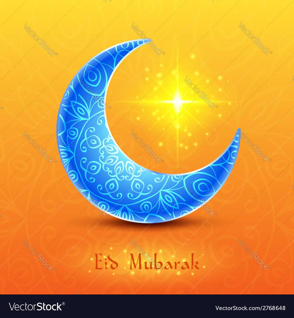 Moon for muslim community festival eid mubarak vector | Price: 1 Credit (USD $1)