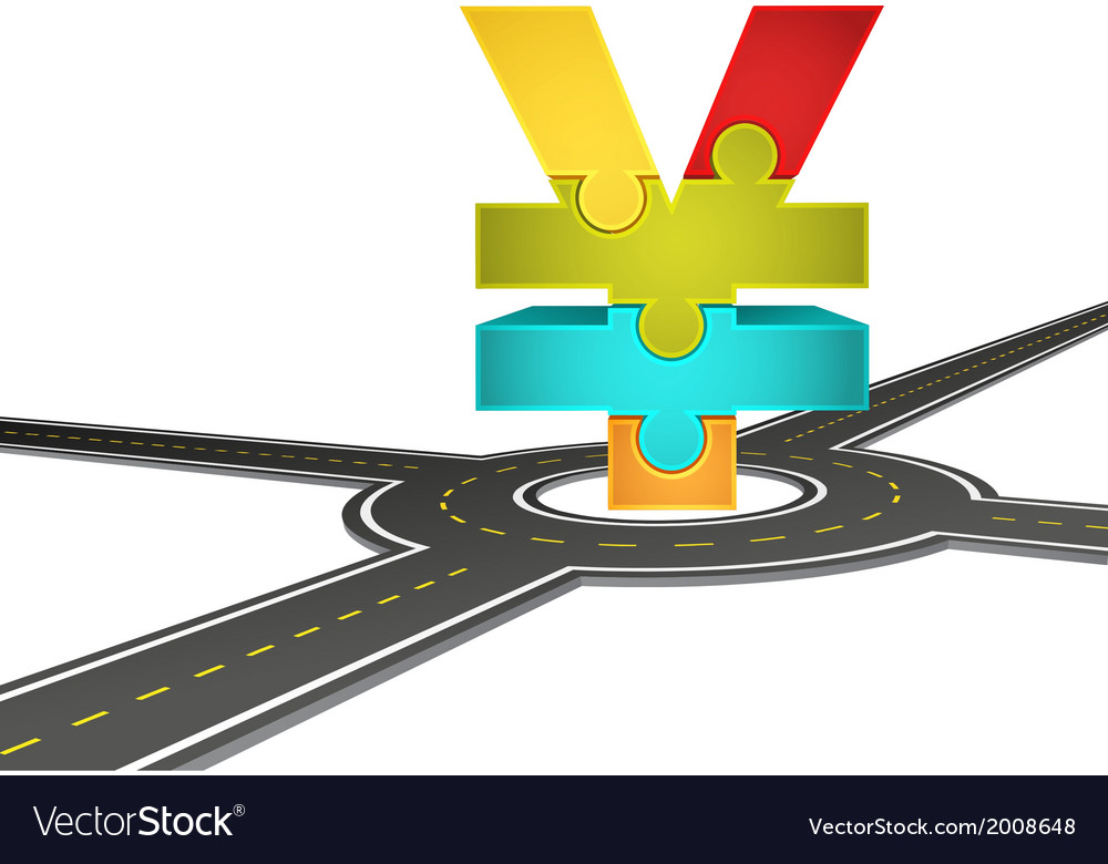 Road and yen vector | Price: 1 Credit (USD $1)