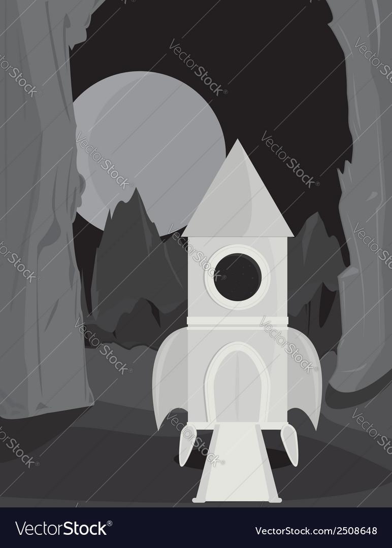 Spaceship on alien planet vector | Price: 1 Credit (USD $1)